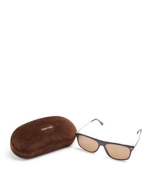 8e75bc4b22e ... Tom Ford - Black Eric Rectangle Frame Sunglasses for Men - Lyst ...