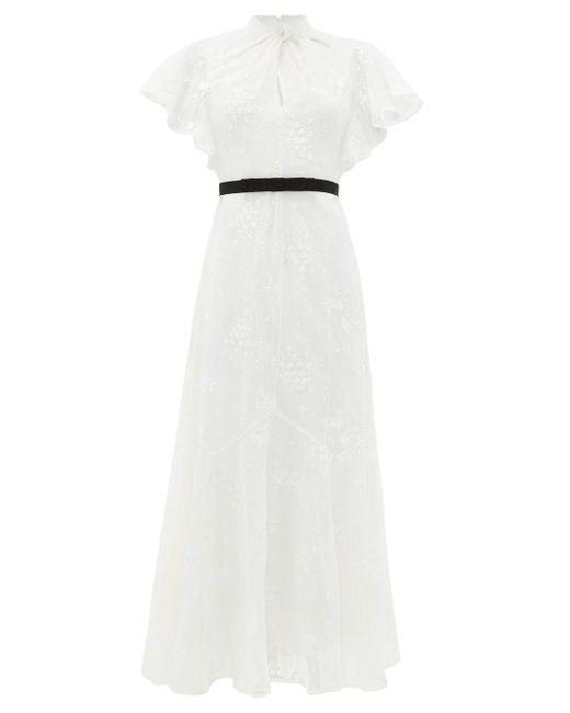 Erdem セレスティーナ フローラルレースドレス White