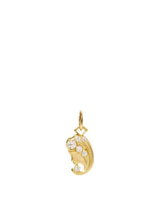Jade Trau ヴァルゴ ダイヤモンド 18kゴールドチャーム Metallic