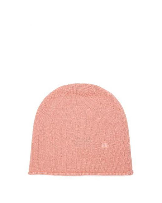 4806efe397d Acne - Pink Pansy S Face Wool Beanie Hat - Lyst ...