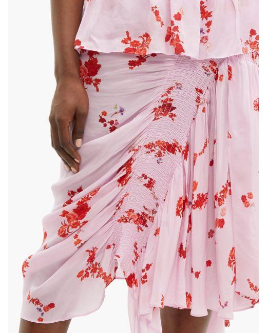 Preen Line Mertilda フローラルプリント ギャザースカート Multicolor