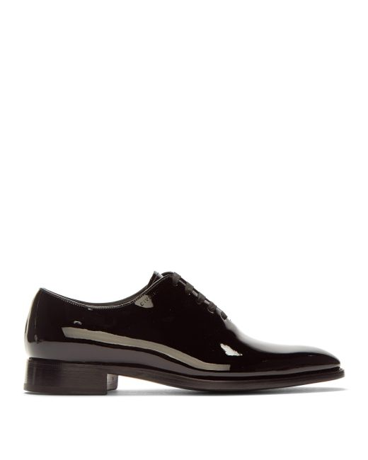 Givenchy Black Patent-leather Oxford Shoes for men