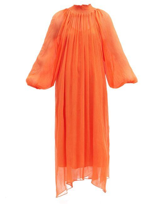 Mara Hoffman エドモニア テンセル シフォンドレス Orange