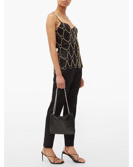 Paco Rabanne Pixel 1969 Chainmail Mesh Shoulder Bag In Black