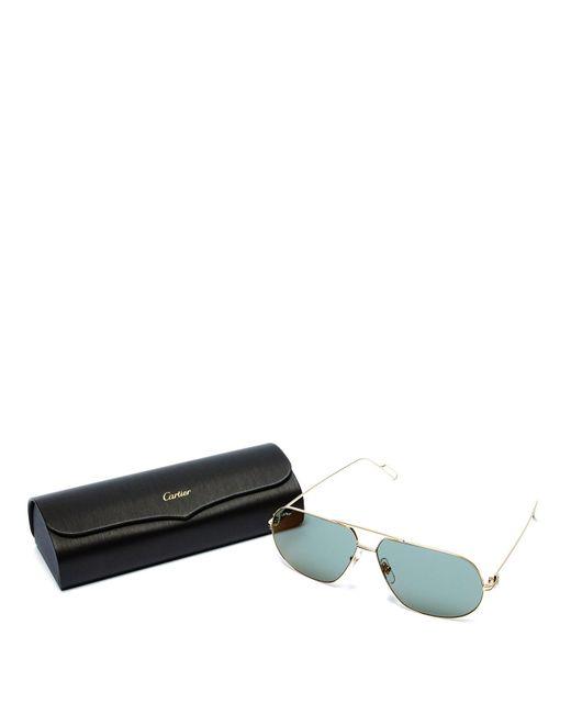 c12dd1ef05 ... Cartier - Metallic Première De Cartier Aviator Metal Sunglasses for Men  - Lyst ...