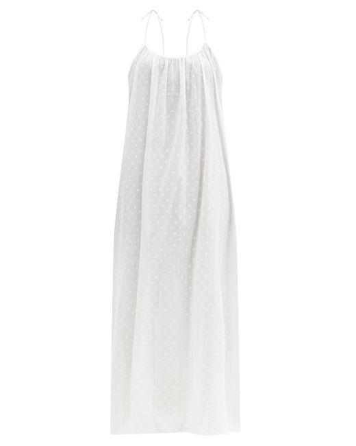 Loup Charmant スイスドット コットンマキシドレス White