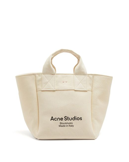 Acne キャンバストートバッグ Natural