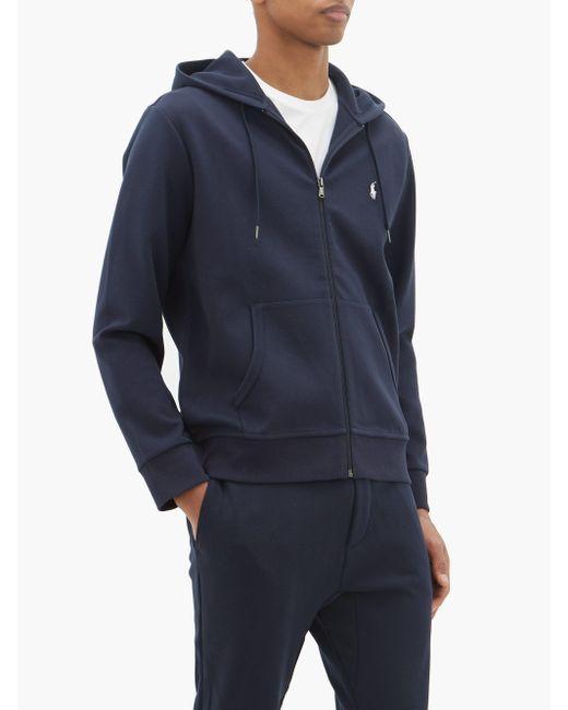 メンズ Polo Ralph Lauren ジップアップ コットンブレンド スウェットパーカー Blue