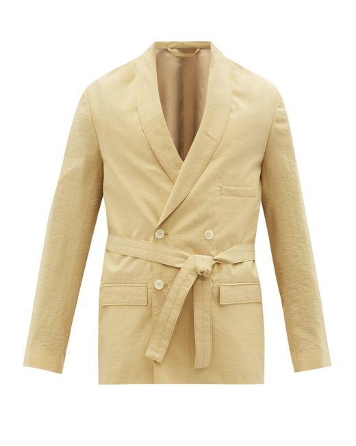 メンズ Lemaire シルクブレンド ダブルスーツジャケット Natural
