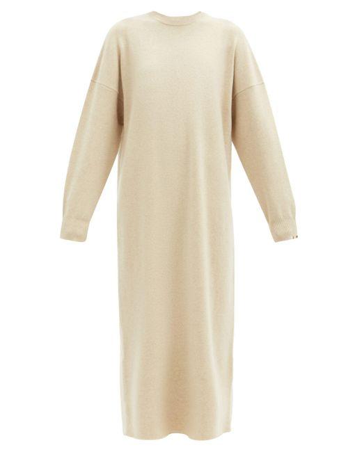 Extreme Cashmere No. 106 ウィアード カシミアブレンドドレス Natural