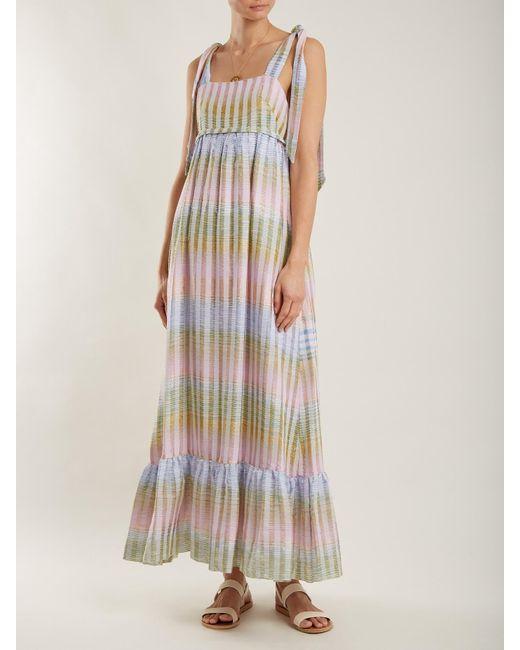 Cosmic Dancer multi-thread cotton-blend dress Athena Procopiou jezbHozNtt