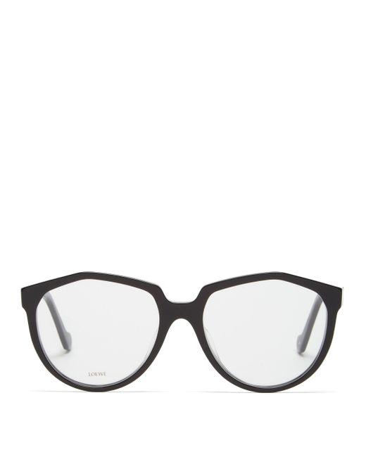 Loewe オーバーサイズ ラウンドメガネ Multicolor