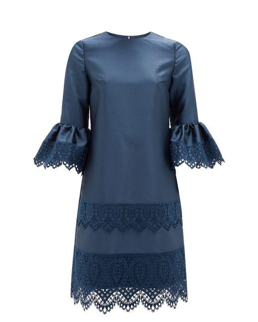 Erdem イライジャ レーストリムドレス Blue