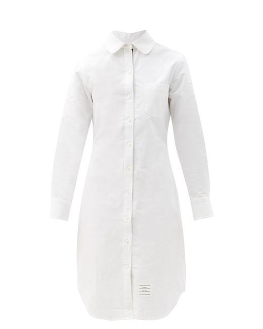 Thom Browne コットンポプリンシャツドレス White