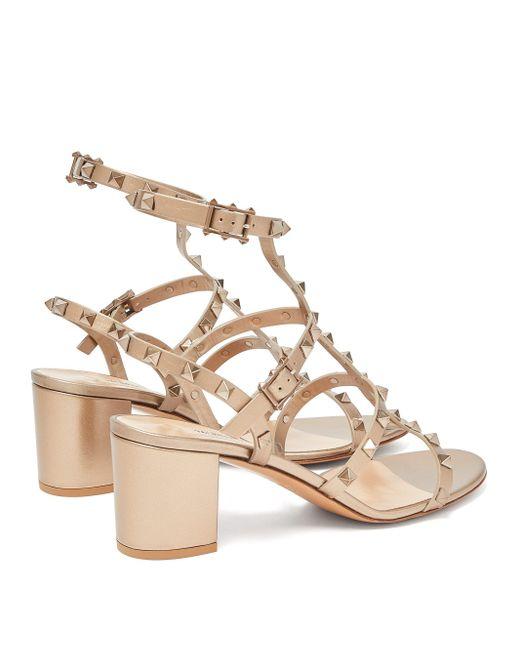 Valentino Garavani Multicolor Rockstud Block-heel Leather Sandals