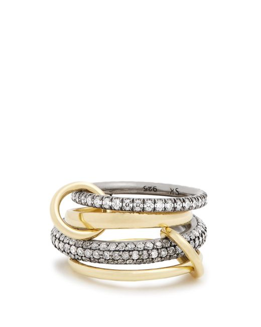 Spinelli Kilcollin | Metallic Vega Diamond, Silver & Yellow-gold Ring | Lyst