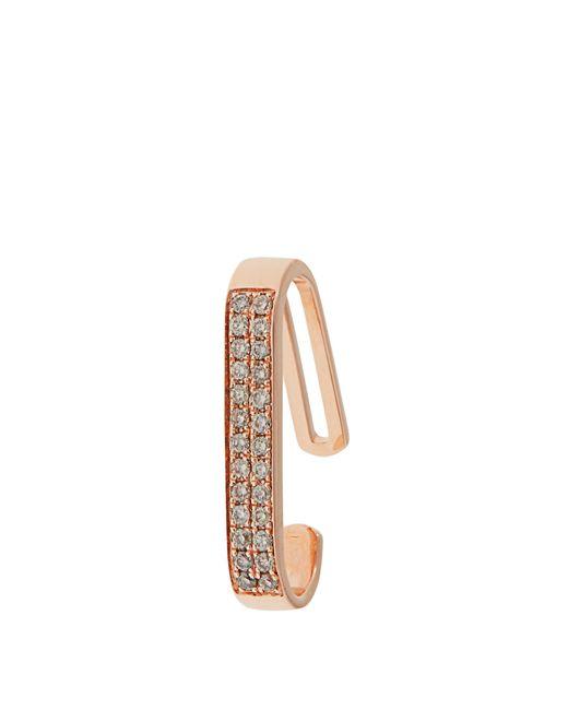 Anissa Kermiche | Metallic Diamond & Rose-gold Ear Cuff | Lyst