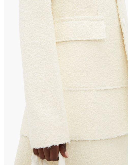 Bottega Veneta ブークレ シングルジャケット White