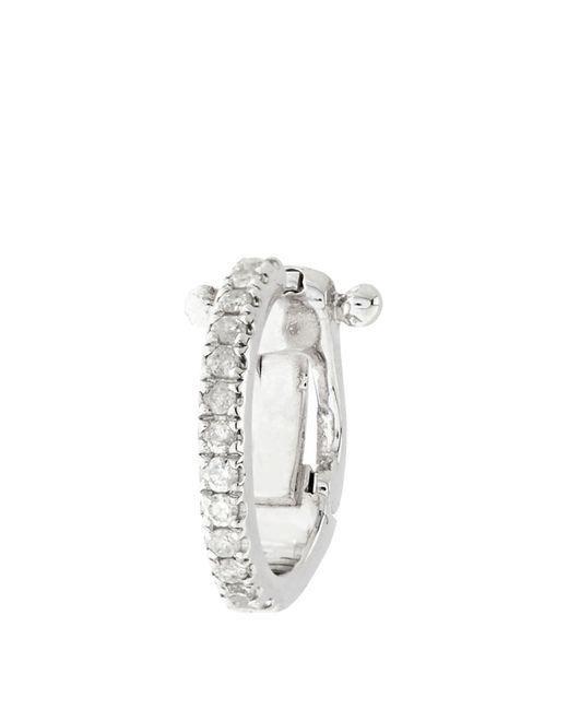 Elise Dray   Metallic Diamond & White-gold Mini Ear Cuff   Lyst