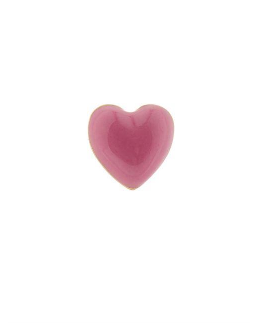 Alison Lou | Pink Enamel & Yellow-Gold Heart Earring | Lyst
