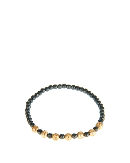 Luis Morais | Black Yellow-gold And Hematite Bead Bracelet for Men | Lyst