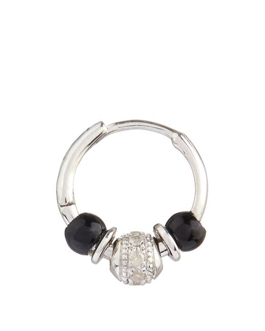 Elise Dray | Metallic Diamond, Onyx & White-gold Mini Rock Earring | Lyst