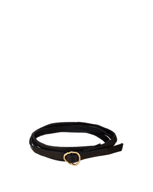 Luis Morais | Black Yellow-gold And Leather Bracelet for Men | Lyst