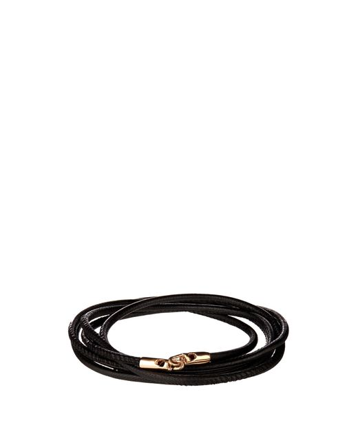 Luis Morais | Black Rose-gold And Leather Bracelet for Men | Lyst