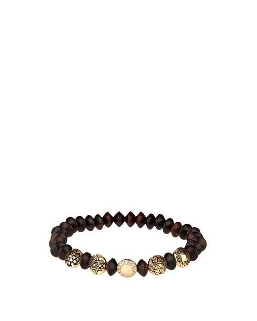 Luis Morais | Black Diamond, Wood And Yellow-gold Bracelet for Men | Lyst