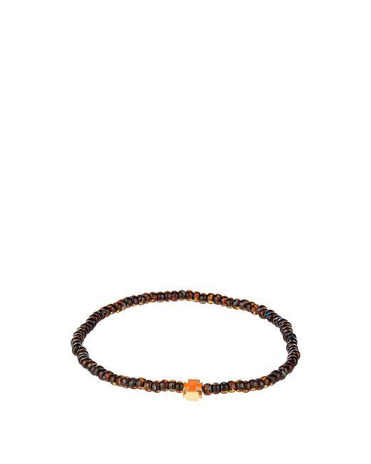 Luis Morais | Orange Bead, Enamel And Yellow-gold Bangle for Men | Lyst