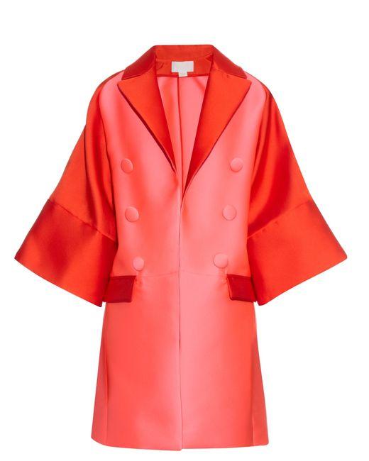 Antonio Berardi | Red Bi-colour Satin Evening Coat | Lyst