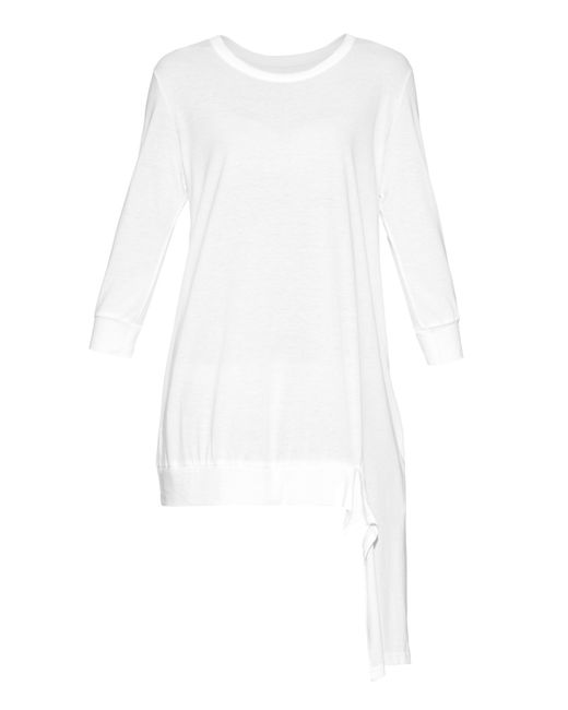 Y's Yohji Yamamoto | Black Contrast-hem Jersey Dress | Lyst