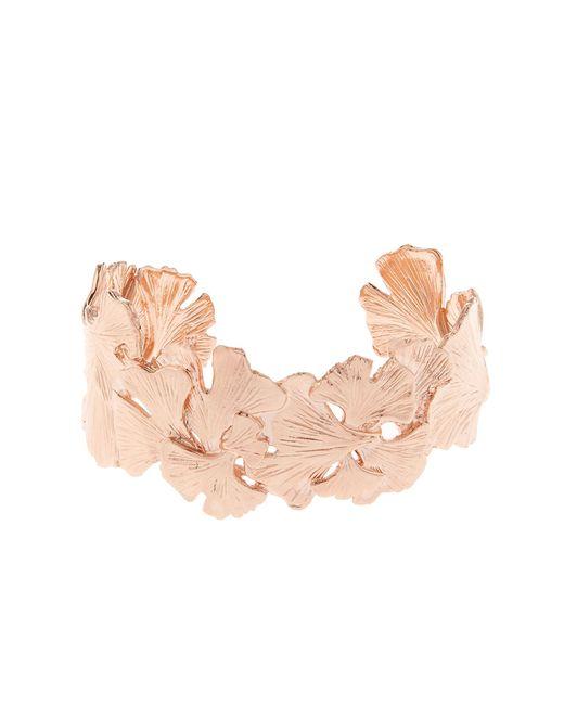 Aurelie Bidermann | Metallic Ginkgo Rose Gold-plated Small Cuff | Lyst