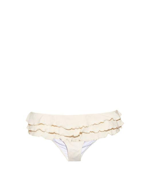 OndadeMar | Natural Ruffled Bikini Briefs | Lyst