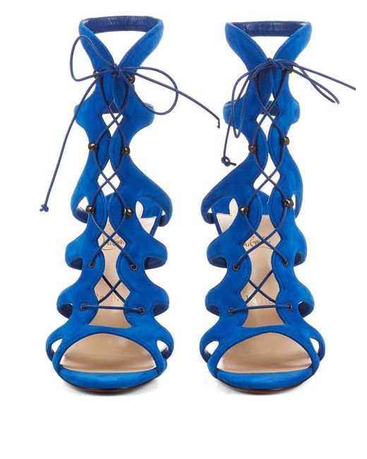 christian louboutin amazoulo leather lace-up sandals