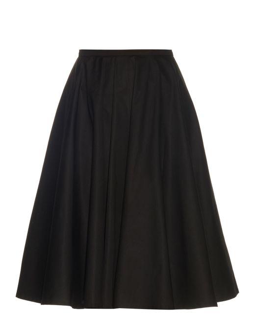 Rochas | Black A-line Cotton-blend Poplin Midi Skirt | Lyst