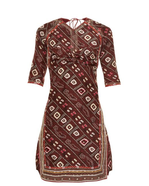 Isabel Marant   Multicolor Tacey Open-back Printed Dress   Lyst