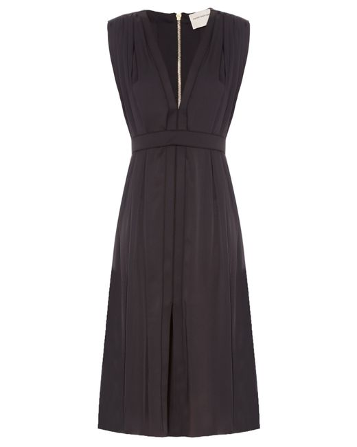 Maison Rabih Kayrouz | Black V-neck Silk-charmeuse Dress | Lyst