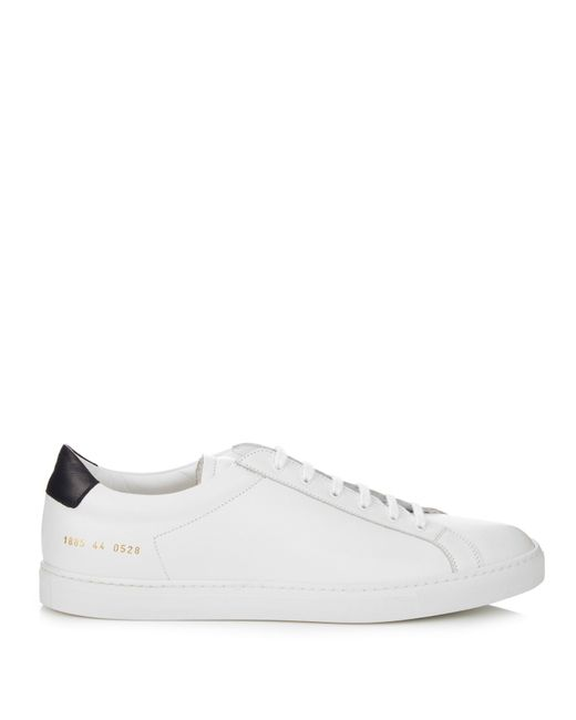 common projects retro achilles low top leather trainers in white for men save 31 lyst. Black Bedroom Furniture Sets. Home Design Ideas