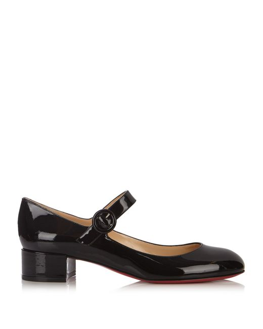 Christian Louboutin   Black Dolly Birdy 30mm Patent-leather Pumps   Lyst