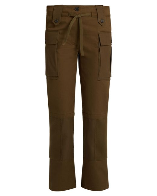 Alexander McQueen | Multicolor Patch-pocket Straight-leg Cotton-twill Trousers | Lyst
