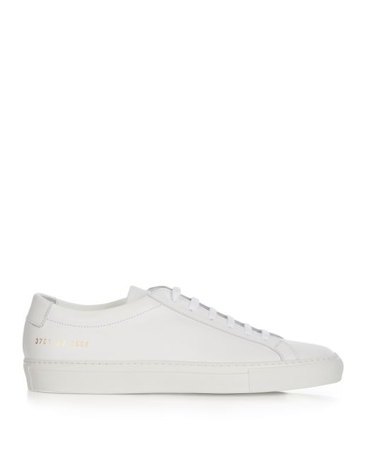 common projects original achilles low top leather trainers in white lyst. Black Bedroom Furniture Sets. Home Design Ideas