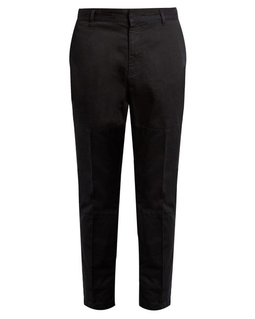 Marc Jacobs | Black Cropped Cotton Trousers for Men | Lyst