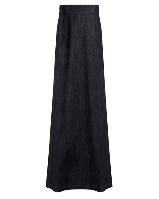 Miu Miu   Multicolor Denim Maxi Skirt   Lyst