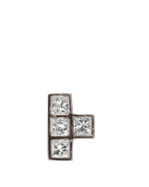 Ileana Makri | Multicolor Diamond & White-gold Earring | Lyst