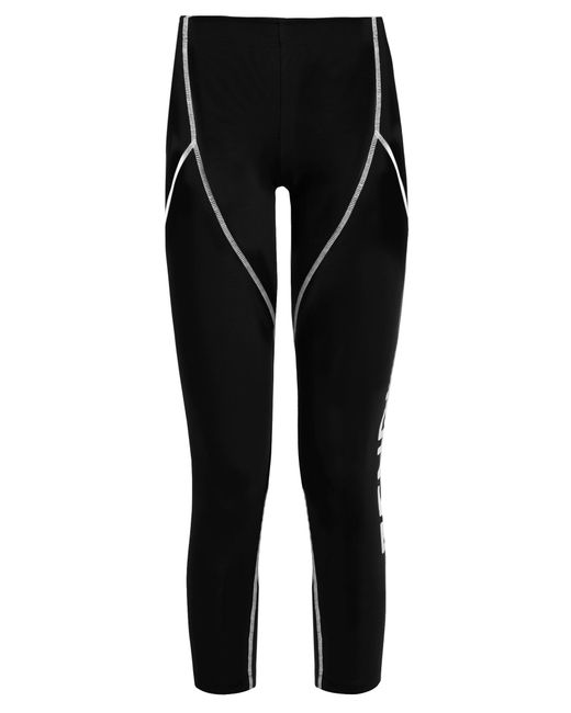 Fendi | Black Side-logo Performance Leggings | Lyst