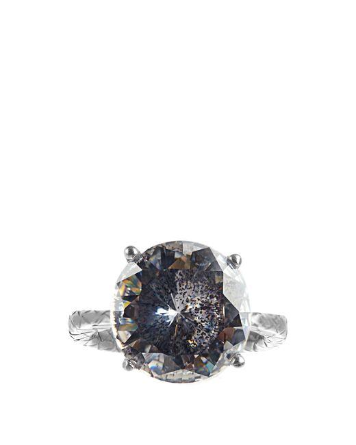 Bottega Veneta | Metallic Cubic Zirconia And Silver Ring | Lyst
