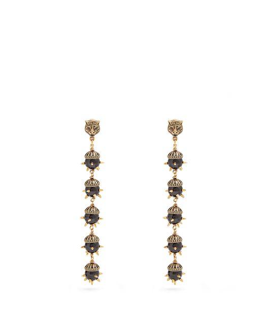Gucci | Metallic Tiger-head Spike-embellished Earrings | Lyst