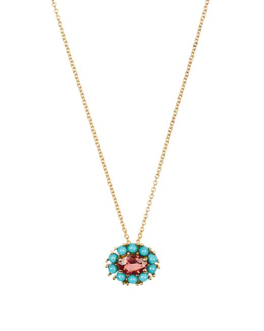 Ileana Makri | Multicolor Sapphire, Turquoise & Yellow-gold Necklace | Lyst