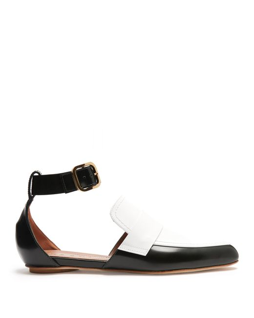 Marni | Multicolor Cut-out Two-tone Leather Loafer | Lyst